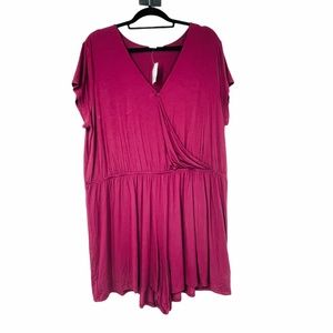 Gap Purple wrap short sleeve Romper Shorts XXL